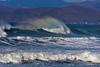 King wave rainbow spray Morro Bay CA