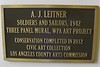 Soldiers and Sailors murals plaque