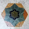 Tile art on the ground in front