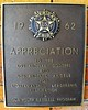 1962 Appreciation plaque for Dodgers and Angels