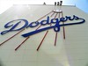 The ascending baseball logo, the team's primary logo, adorns the observation deck. It has been traced to Dodgers letterhead from the 1930s.