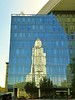 City Hall Tower reflected in the L.A. Police Department building