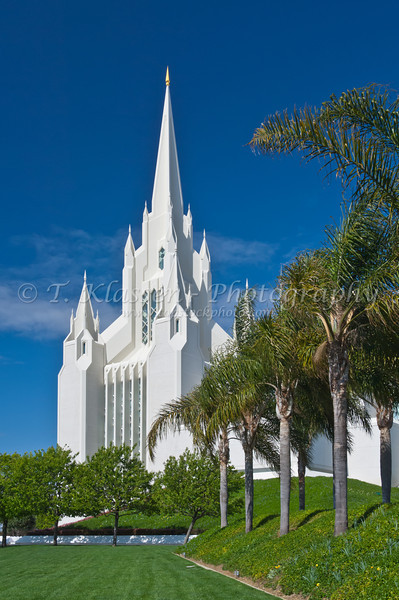 The San Diego Mormon Temple at La Jolla, California, USA.