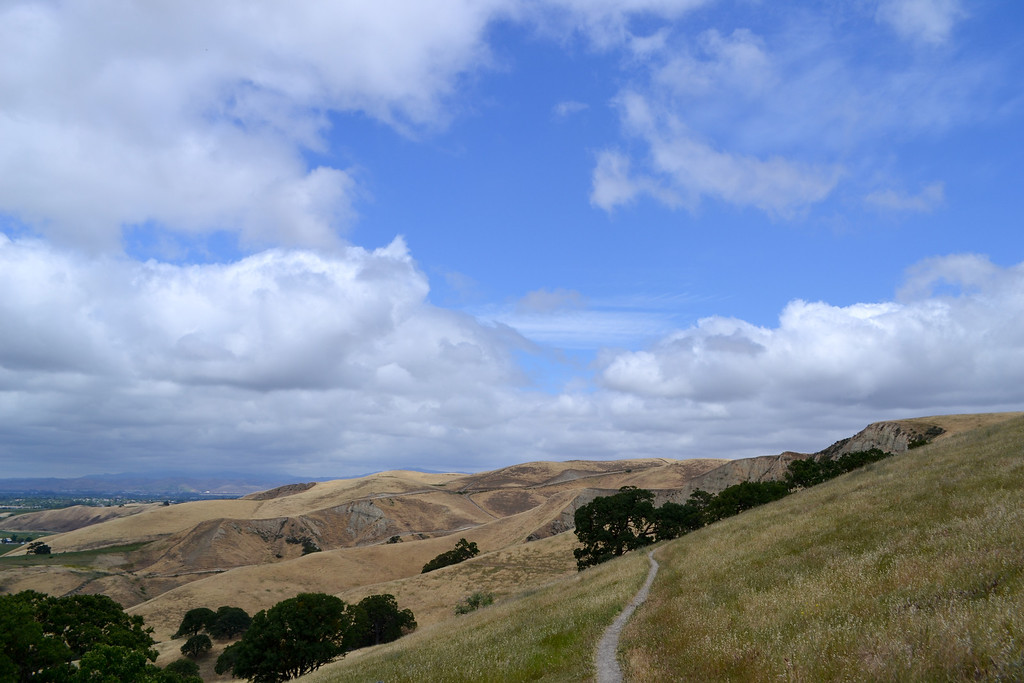 EBRP - Del Valle.  RH Creek trail before the steps, going back to the trailhead..... the clouds were magnificent today.