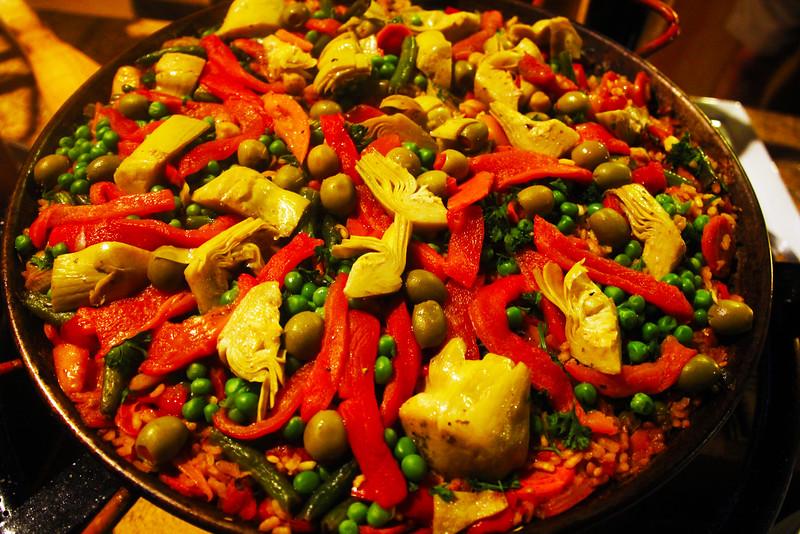 Lodi California, Vegetarian Paella, St. Jorge Winery