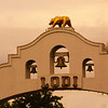 Lodi California, City Arch, Sunset