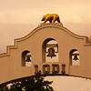 Lodi California, City Arch, Sunset