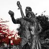 Lodi California, Wine Couple Statue, BW