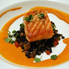 Lodi California, Wine & Roses Resort Restaurant, Seared Salmon with Lentils