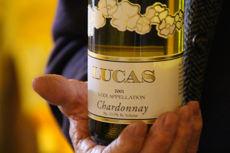 Lodi California, The Lucas Winery, 2001 Chardonnay Tasting