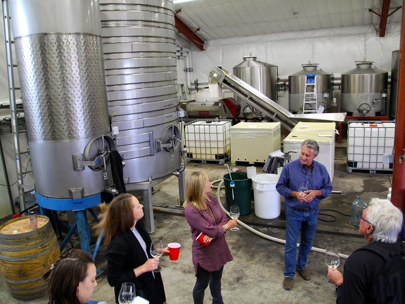 Lodi California, Bokisch Winery, Tour of Barrel Room