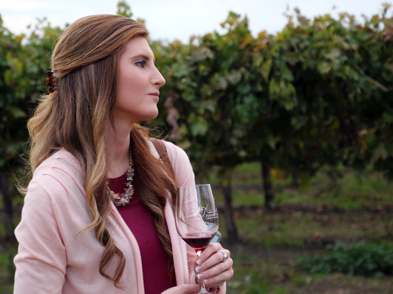 Lodi California, Winetasting in Vineyard, Harney Lane Winery