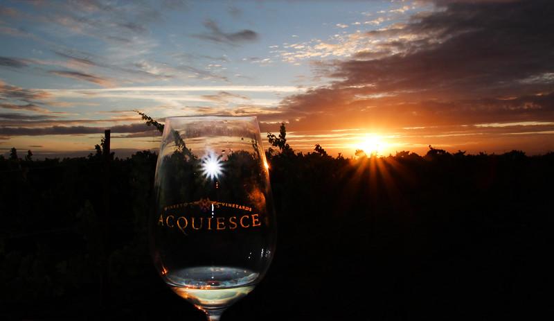 Lodi California, Sunset View, Acquiesce Winery Sunset