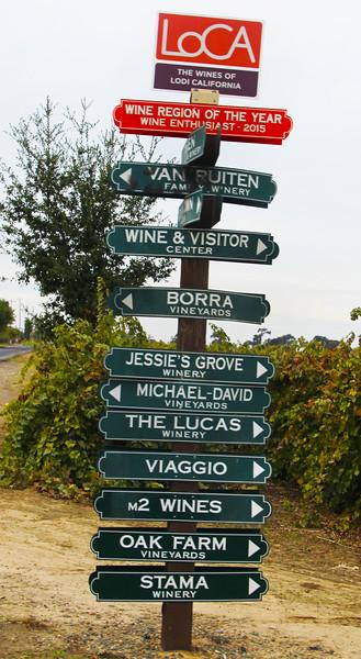 Lodi California, LOCA Wines of Lodi Sign