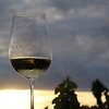 Lodi California, Acquiesce Winery, Glass at Sunset