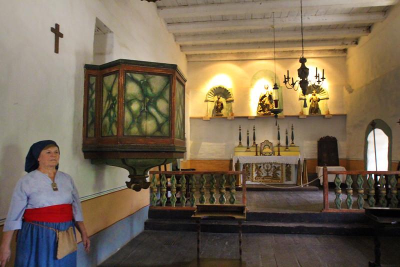 Lompoc California, La Purisima Mission, Docent and Altar