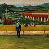Lompoc California, La Purisima Mission Mural, with Artist Vicki Anderson