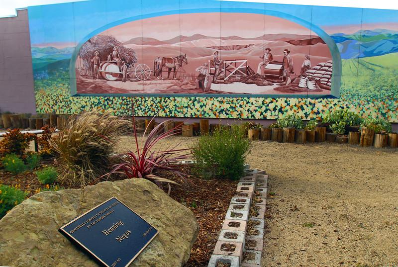 Lompoc California, Pioneer Mural with Commemorative Plaque