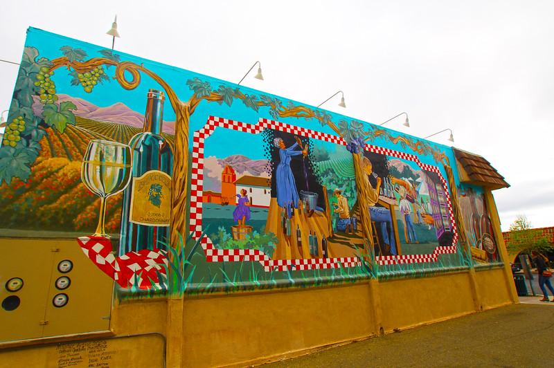 Lompoc California, Mural Commemorating Lompoc's Sta. Rita Hills and Wineries