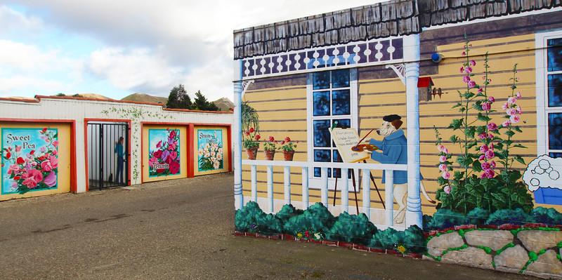 Lompoc California,  Artist's Cottage Murals