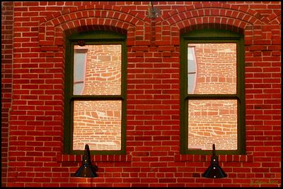 Brick Wall Reflections Near Olvera Street Los Angeles