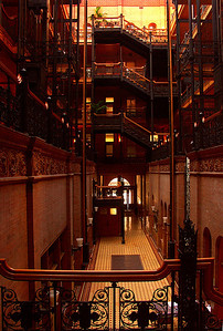 The Bradbury Building Los Angeles CA (This is where parts of Blade Runner was filmed...)