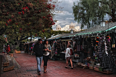 Shopping on Olvera St. LA Ca.