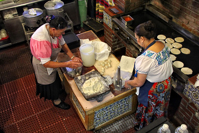 The Tortilla Makers Olvera St LA Ca.