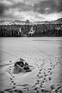 Footprints - Twin Lakes, Mammoth, CA, USA