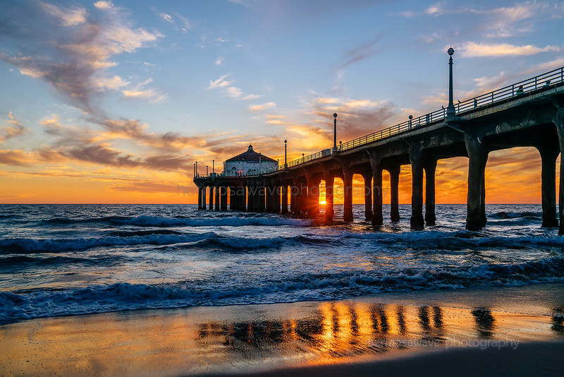 Sunset Through the Pier
