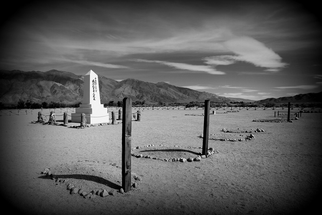 Monument at Manzanar cemetery