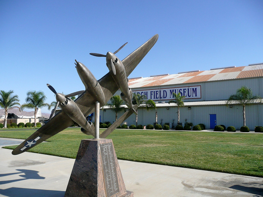 """The March Air Force Base Aviation Museum is in off hwy 215, in Riverside County north of Temecula <a href=""""http://www.marchfield.org/"""">http://www.marchfield.org/</a>"""