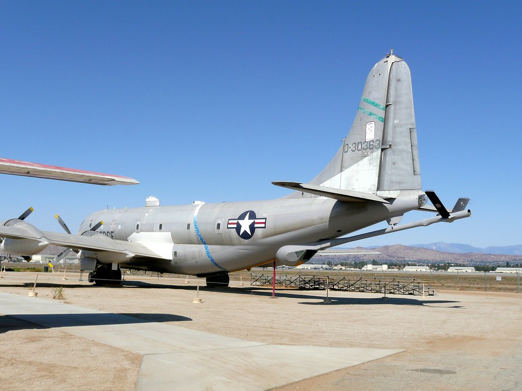 The KC-97, an aerial refueling tanker, was designed from the transport version of the B-29, was used from 1956 to 1980.