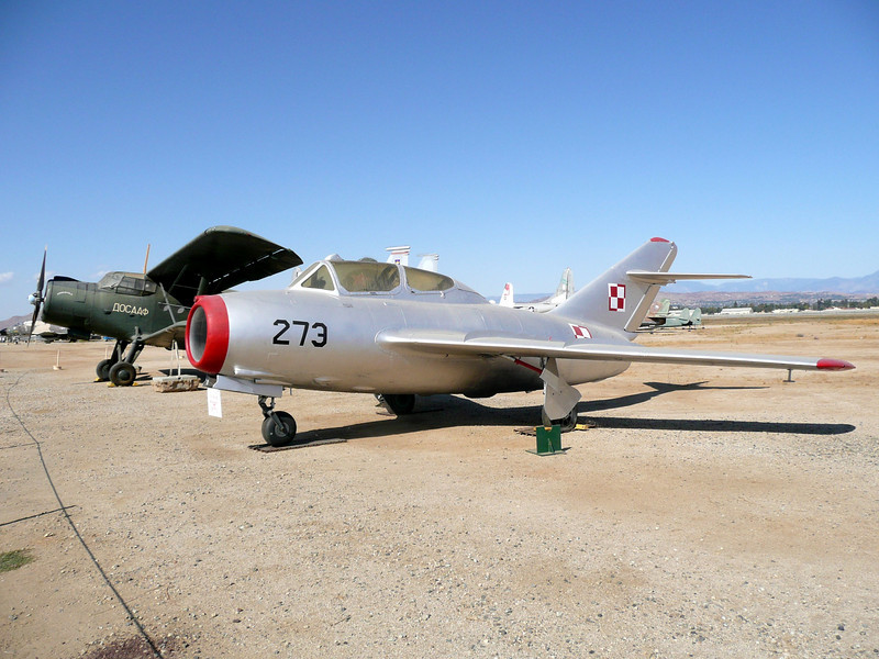 The Mikoyan-Gurevich MiG-15 was a jet fighter developed for the USSR by Artem Mikoyan and Mikhail Gurevich. The MiG-15 was one of the first successful swept-wing jet fighters, and it achieved fame in the skies over Korea, where early in the war, it outclassed all enemy fighters. The MiG-15 also served as the starting point for development of the more advanced MiG-17 which would oppose American fighters over Vietnam in the 1960s. The MiG-15 is believed to have been one of the most numerous jet aircraft ever made, with over 12,000 built. Licensed foreign production perhaps raised the total to over 18,000. The Mig-15 is often mentioned along with the F-86 Sabre in lists of the best fighter aircraft of the Korean War and in comparison with fighters of other eras.