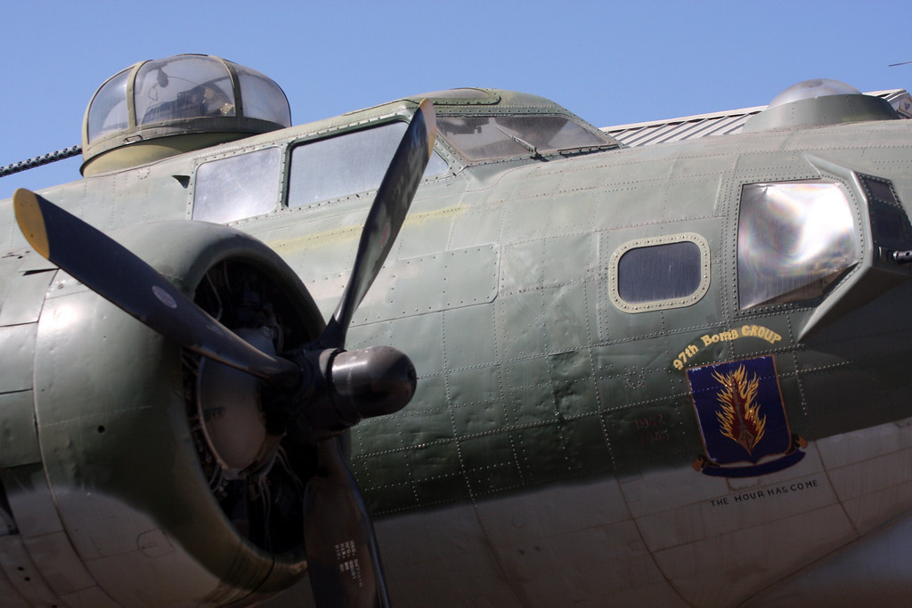 The first full B17 mission against Germany,from bases in England,  took place in August 1942. Out of the 1.5 million tons of bombs dropped on Germany, the B17 dropped 500,000 tons. The 8th Air Force had fired 99 million rounds of ammunition during these flights and approx. 20,000 German planes were destroyed. In total, over 12,000 B17's were built,  250,000 Americans fly them with 46,500 were either killed or wounded by war's end in 1945.