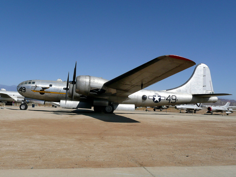 WWII B29 SuperFortress, the type that dropped the Atomic Bombs on Japan to end the Pacific War.