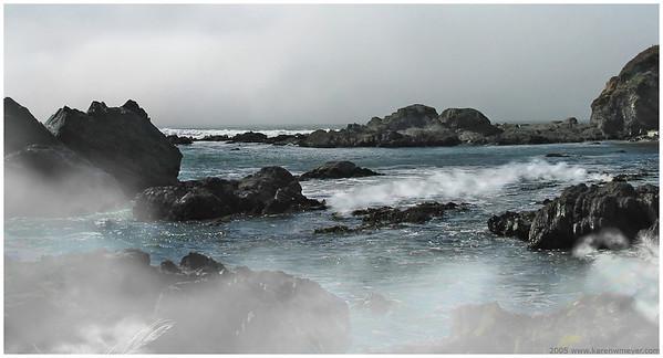 (55) Fog Lift California Coast