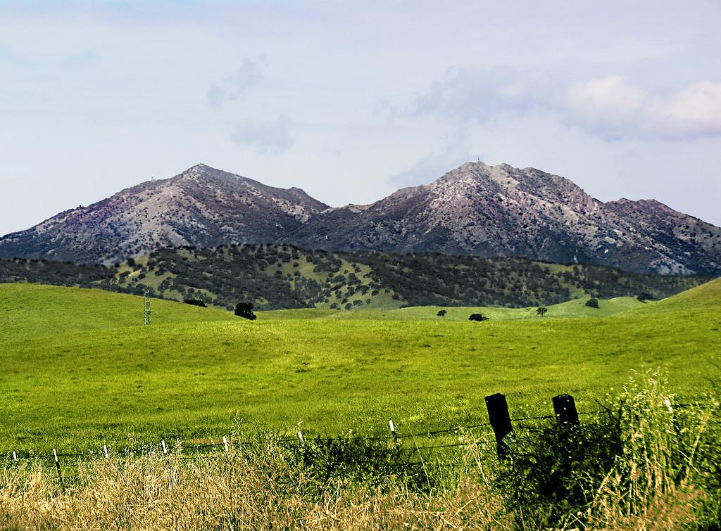 Mt. Diablo from Marsh Creek