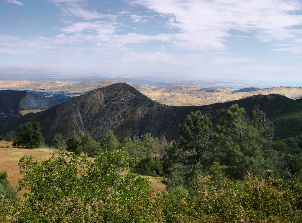 22 OG - Hiking Mitchel Canyon of Mount Diablo, this is the view of Black Point off in the distance.
