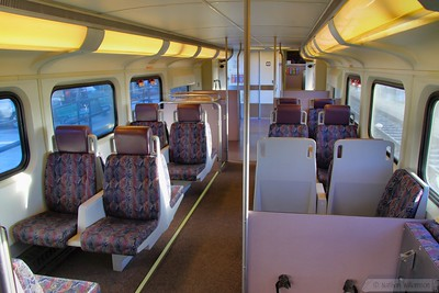 Interior of Metrolink Cab Car 605  09/06/10