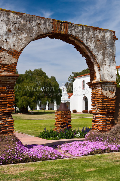 Historic remnants of the Convent area at the Mission San Luis Rey de Francia, near Oceanside, California, USA.