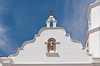Detail of the front entrance to the Mission San Luis Rey de Francia, near Oceanside, California, USA.