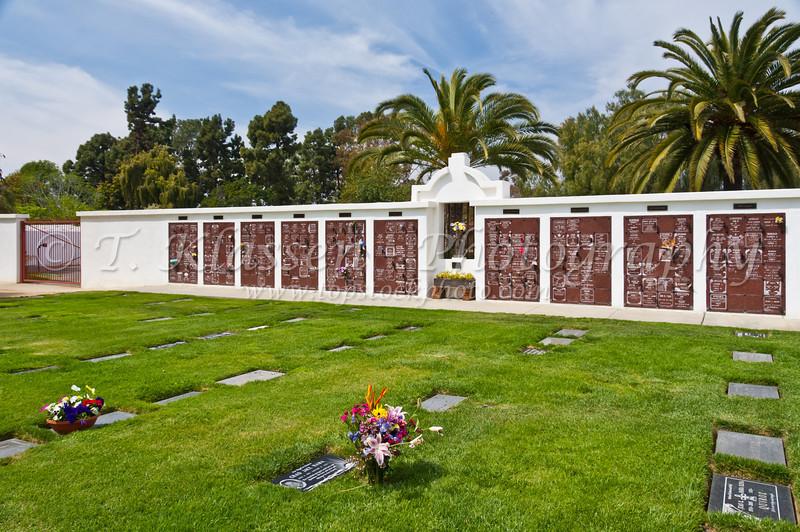 The church cemetery at the Mission San Luis Rey de Francia, near Oceanside, California, USA.