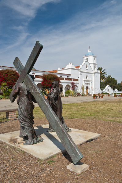 A Station of the Cross at the Mission San Luis Rey de Francia, near Oceanside, California, USA.