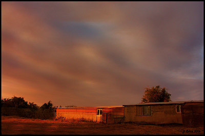 Wildfire Sunset Shot during one of Southern CA. recent wildfires
