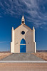 A small church on a hill at the Center of the World Plaza near Felicity, California, USA.