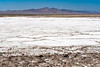 The Bristol Dry Lake salt accumulation on Route 66, near Amboy, California, USA.