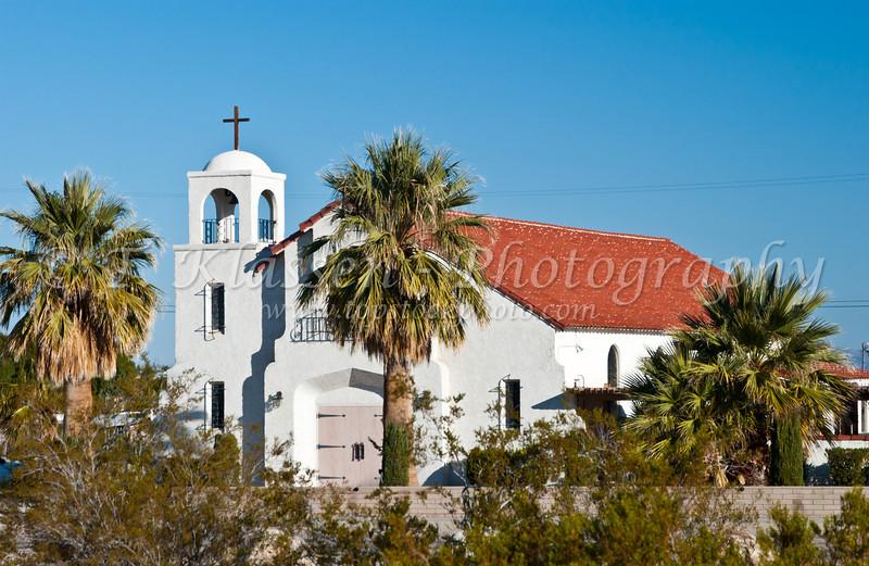 Blessed Sacrament Catholic Church in Twenty-nine Palms, California, USA.