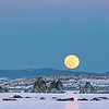 First full moon of 2013 over the tufas in Mono Lake.
