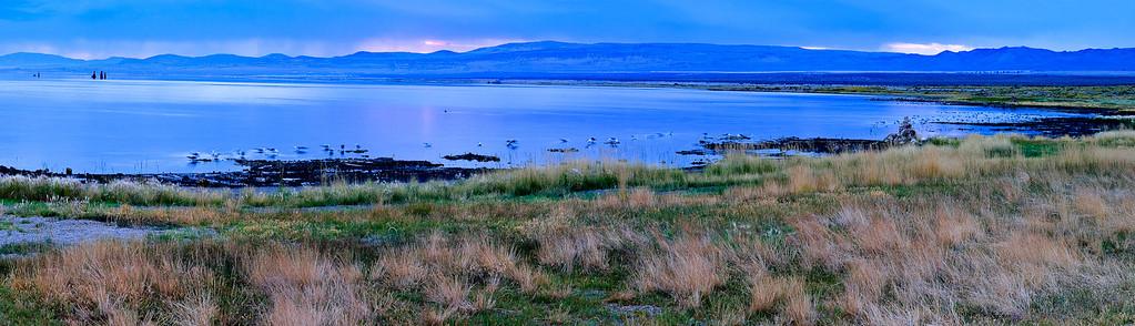 Dawn at Mono Lake - 6:14 AM 4 image stitch